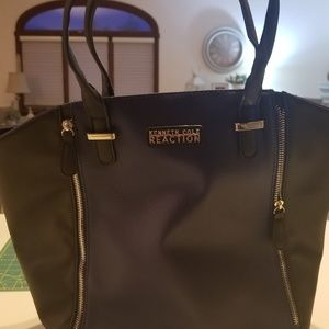 Kenneth Cole Reaction Blue and Black Tote